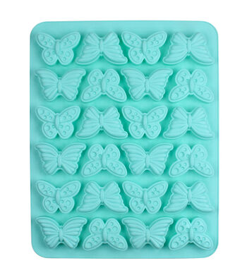 Easter 13.5''x10.5'' 24-cavity Silicone Mini Treat Mold-Butterfly