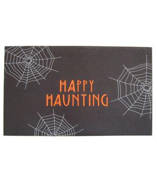 Maker's Halloween Rubber Doormat-Happy Haunting