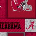 Alabama Crimson Tide Fleece Fabric-College Patches