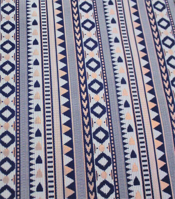 Earth Child Apparel Metallic Jacquard Fabric 57''-Mini Aztec