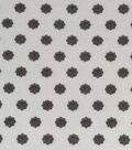 Knit Apparel Fabric 57\u0022-White Black Medallion Foulard