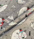 Doodles Christmas Cotton Fabric 57\u0022-Norwall & Friends On Gray