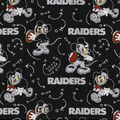 Oakland Raiders Cotton Fabric-Mickey Mouses