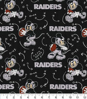 Oakland Raiders Cotton Fabric-Mickey Mouses, , hi-res