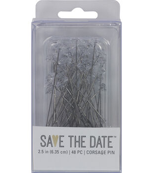 Save the Date Corsage Pin