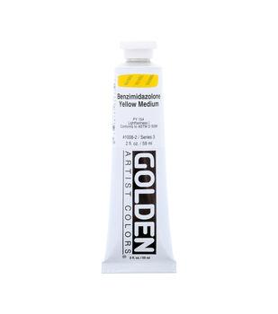 Golden Artist Colors Heavy Body Acrylics-Benzimidazolone Yellow Medium