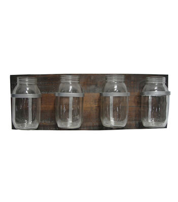 Bloom Room 23'' Wood Glass Bottle Decor