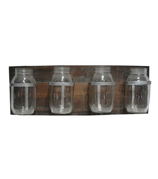 Bloom Room 23'' Wood Glass Bottle Decor