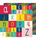 American Crafts Box of Crayons 25 pk 12\u0027\u0027x12\u0027\u0027 Cardstock-Spell it Out
