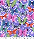 Snuggle Flannel Fabric-Colorful Butterflies