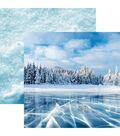 Snow Day Double-Sided Cardstock 12\u0022X12\u0022-Blue Ice