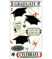 Jolee's Boutique Le Grande Dimensional Stickers-Graduate Celebrate, , hi-res