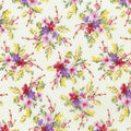 Premium Cotton Fabric-Large Floral on Ivory
