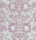 Sew Lush Fleece Fabric -Blush Damask