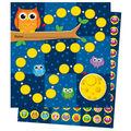 Owls Mini Incentive Charts, 6 Per Pack