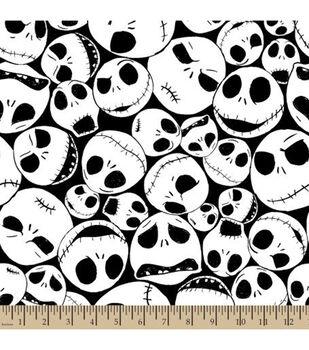 Nightmare Before Christmas Halloween Fleece Fabric-Packed Jack