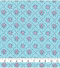 Keepsake Calico Cotton Fabric 43\u0022-Light Blue Diamond Ditsy Floral