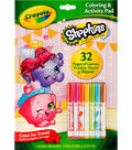 Crayola Coloring & Activity Pad With Markers-Shopkins