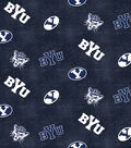 Brigham Young University Cougars Flannel Fabric 42\u0022-Distressed Logo