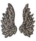 Wings Bronze Sequins Applique