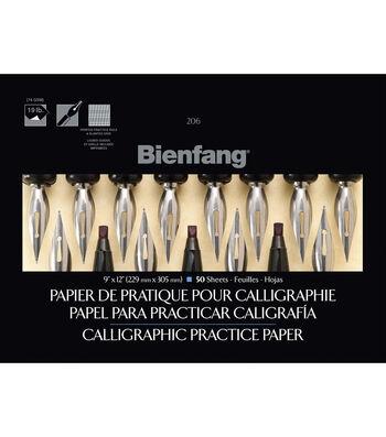 Speedball Bienfang 50 Sheets 9''x12'' Calligraphic Practice Paper Pad