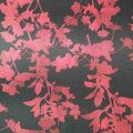 Holiday Shine Stretch Satin Fabric 58\u0022-Black & Red Floral