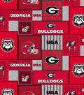 Georgia Bulldogs Fleece Fabric-College Patch