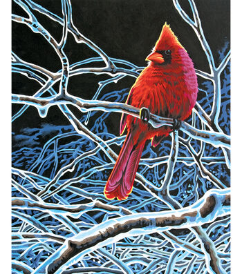 """Reeves Paint By Number Kit 11""""X14-Ice Cardinal"""
