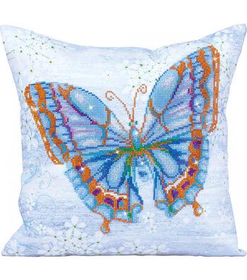 Diamond Dotz Decorative Pillow Kit-Papillon Bleu