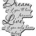 Stampendous Cling Rubber Stamp-Dream Forever