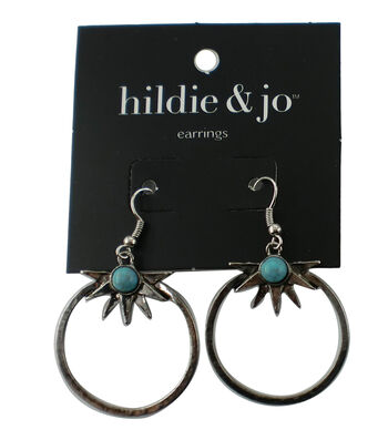 hildie & jo Silver Earrings-Turquoise Bead