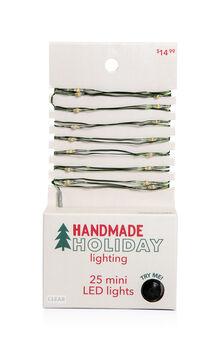 Handmade Holiday Christmas Lighting 25 ct LED Clear Mini Light Strand