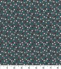 Quilter\u0027s Showcase Cotton Fabric 44\u0027\u0027-Gray, Teal & White Scattered Dots