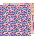 American Crafts Sunshine & Good Times 12\u0027\u0027x12\u0027\u0027 Cardstock-Flutter By