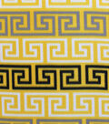 Blizzard Fleece Fabric- Yellow And Gray Geo