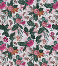 Snuggle Flannel Fabric-Realistic Butterfly Floral