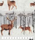 Anti-Pill Plush Fleece Fabric-Winter Deer