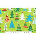 Christmas Cotton Fabric-Bright Christmas Trees