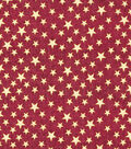 Patriotic Cotton Fabric-Red Glitter Heart of America
