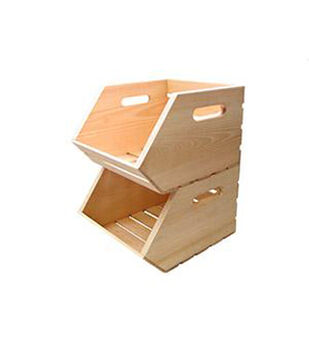 Stackable Wood Crate