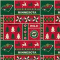 Minnesota Wild Fleece Fabric-Winter