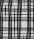 Sew Sweet Taffeta Fabric-White & Black Plaid Fraser