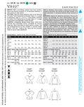 Mccall Pattern V8497 Aa (6-8-10-Vogue Pattern