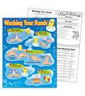 Washing Your Hands Learning Chart 17\u0022x22\u0022 6pk