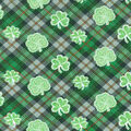 St. Patrick\u0027s Day Fabric -Celtic Shamrock Plaid