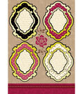 Kanban Shabby Chic Die-Cut Punch-Out-Vintage Frame Ruby/Ivory
