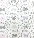 Nursery Fabric - Butterfly Garden Vines Cotton