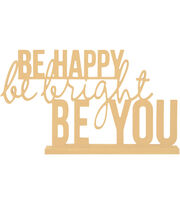 Kaisercraft Beyond The Page MDF Phrase-Be Happy, , hi-res