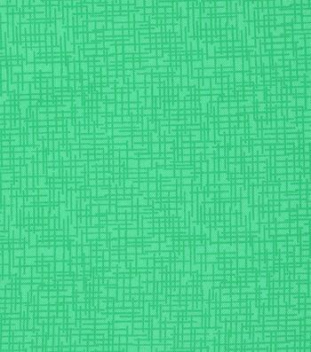 Mardi Gras Cotton Fabric-Crosshatch Green