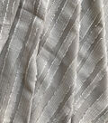 Silky Sheer Crepe Fabric 56\u0027\u0027-Gray Stripe